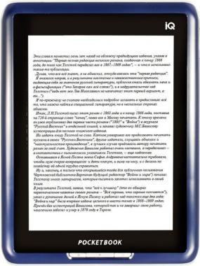 инструкции для электронной книги PocketBook IQ 701